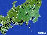 関東・甲信地方のアメダス実況(降水量)(2021年06月16日)
