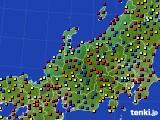 北陸地方のアメダス実況(日照時間)(2021年06月17日)