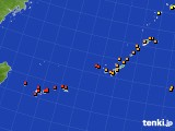 沖縄地方のアメダス実況(気温)(2021年06月18日)