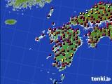 九州地方のアメダス実況(日照時間)(2021年06月21日)