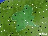 群馬県のアメダス実況(風向・風速)(2021年06月21日)