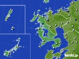 長崎県のアメダス実況(風向・風速)(2021年06月21日)