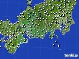 東海地方のアメダス実況(風向・風速)(2021年06月22日)