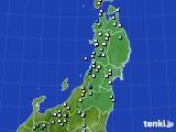 東北地方のアメダス実況(降水量)(2021年06月23日)
