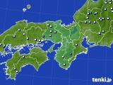 近畿地方のアメダス実況(降水量)(2021年06月23日)