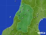 山形県のアメダス実況(降水量)(2021年06月23日)