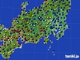 関東・甲信地方のアメダス実況(日照時間)(2021年06月23日)