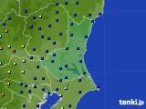 茨城県のアメダス実況(日照時間)(2021年06月23日)