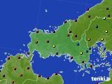 山口県のアメダス実況(日照時間)(2021年06月23日)
