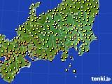 関東・甲信地方のアメダス実況(気温)(2021年06月23日)