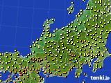 北陸地方のアメダス実況(気温)(2021年06月23日)