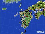 九州地方のアメダス実況(気温)(2021年06月23日)
