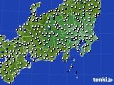 関東・甲信地方のアメダス実況(風向・風速)(2021年06月23日)