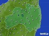 福島県のアメダス実況(風向・風速)(2021年06月23日)