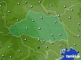 埼玉県のアメダス実況(風向・風速)(2021年06月23日)
