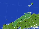 島根県のアメダス実況(風向・風速)(2021年06月23日)