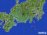 東海地方のアメダス実況(風向・風速)(2021年06月24日)
