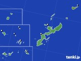 沖縄県のアメダス実況(降水量)(2021年07月24日)