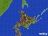 北海道地方のアメダス実況(気温)(2021年07月24日)