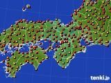 近畿地方のアメダス実況(気温)(2021年07月25日)