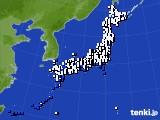 アメダス実況(風向・風速)(2021年07月25日)