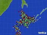 北海道地方のアメダス実況(日照時間)(2021年07月29日)