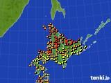 北海道地方のアメダス実況(気温)(2021年07月29日)