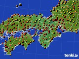 近畿地方のアメダス実況(気温)(2021年07月29日)