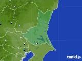 茨城県のアメダス実況(降水量)(2021年07月30日)