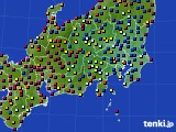 関東・甲信地方のアメダス実況(日照時間)(2021年07月30日)