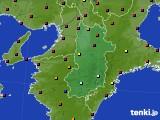 奈良県のアメダス実況(日照時間)(2021年07月30日)