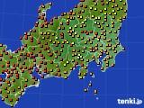 関東・甲信地方のアメダス実況(気温)(2021年07月30日)