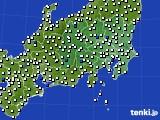 関東・甲信地方のアメダス実況(風向・風速)(2021年07月30日)