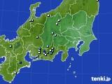 関東・甲信地方のアメダス実況(降水量)(2021年07月31日)