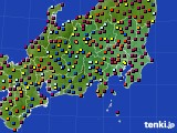 関東・甲信地方のアメダス実況(日照時間)(2021年07月31日)