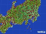 関東・甲信地方のアメダス実況(気温)(2021年07月31日)