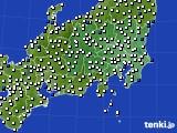関東・甲信地方のアメダス実況(風向・風速)(2021年07月31日)