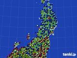 東北地方のアメダス実況(日照時間)(2021年08月01日)