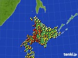 北海道地方のアメダス実況(気温)(2021年08月01日)