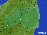 福島県のアメダス実況(気温)(2021年08月01日)