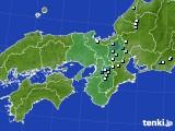 近畿地方のアメダス実況(降水量)(2021年08月03日)