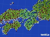 近畿地方のアメダス実況(日照時間)(2021年08月03日)