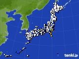 2021年10月01日のアメダス(風向・風速)