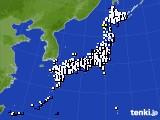 2021年10月02日のアメダス(風向・風速)