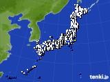 2021年10月09日のアメダス(風向・風速)