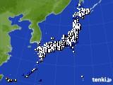 2021年10月11日のアメダス(風向・風速)
