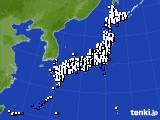 2021年10月13日のアメダス(風向・風速)