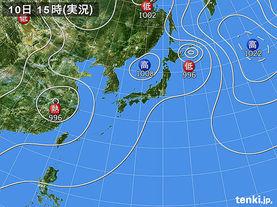 実況天気図(2012年08月10日)