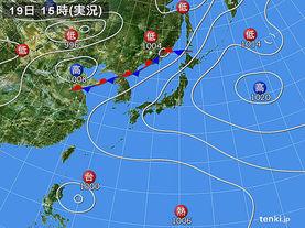 実況天気図(2012年08月19日)