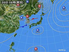 実況天気図(2012年08月30日)